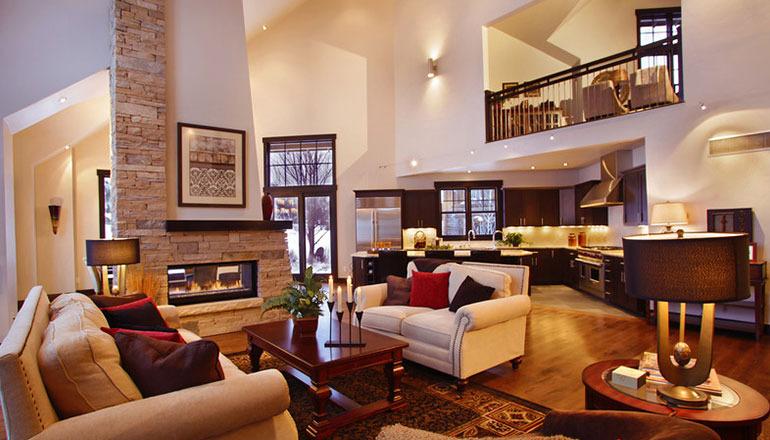 1029 heritage custom home living room