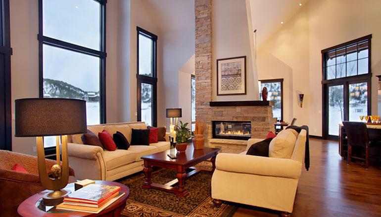 interior of living room - aspen custom home design