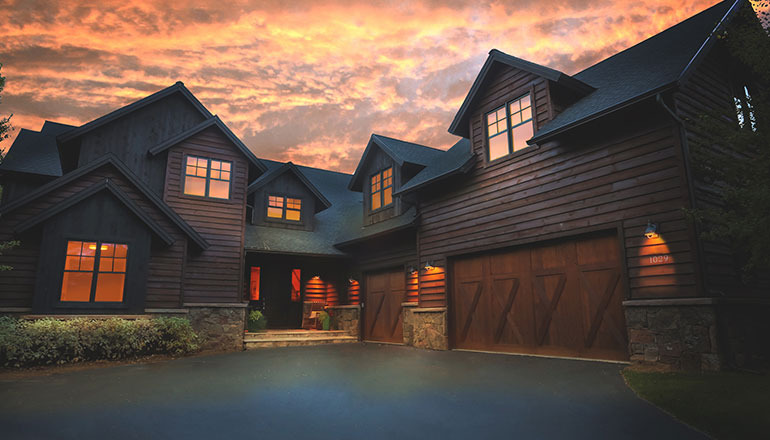 1029 heritage night shot - custom home by aspen built homes