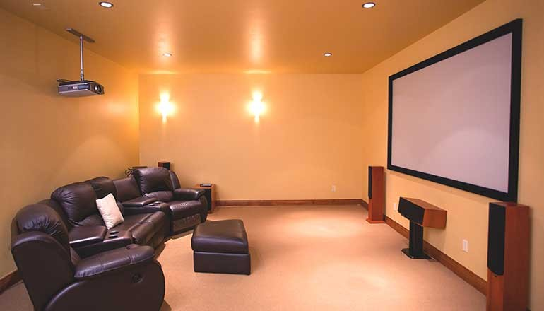 Movie room at 4108 Crystal Bridge