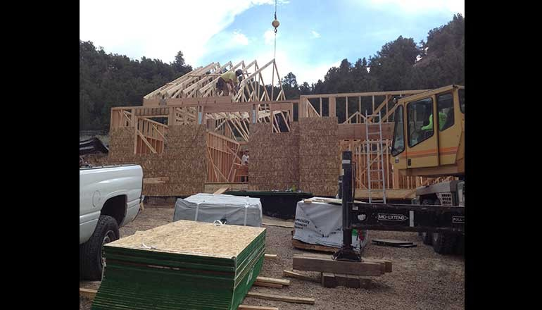 pinyon mesa new home construction in framing phase
