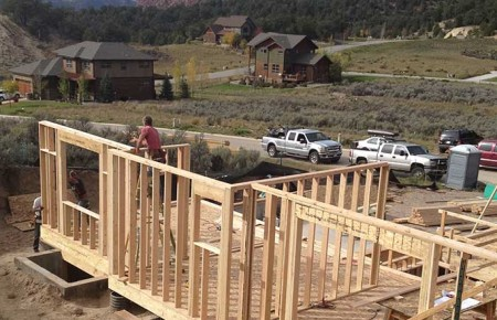 aspen built homes framing new home